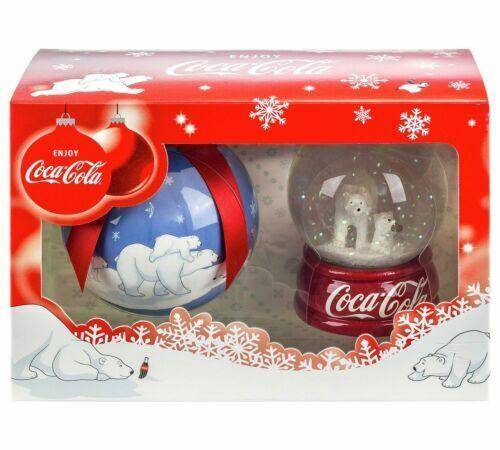 Poler Bear Snow Globe /& Chrismas Bauble Coca Cola GIFT SET BRAND NEW
