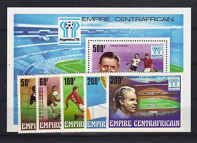 Trendmarkierung Zentralafrika 513/17 Bl 20 Postfrisch Fußball ......
