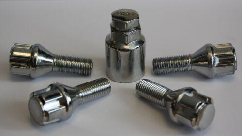 MERCEDES CLK COUPE C208 97-02 Conico Cerchi In Lega perni di bloccaggio M12 x 1.5 25 mm