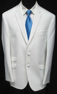 "New White ""The Situation"" Tuxedo Dinner Jacket Slim Fit Wedding Prom Cruise 42S"