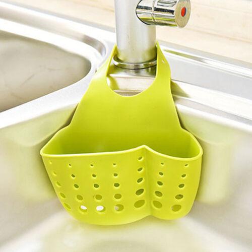 Kitchen Sink Soap Sponge Suction Cup Shelf Drain Rack Storage Bathroom Holder US