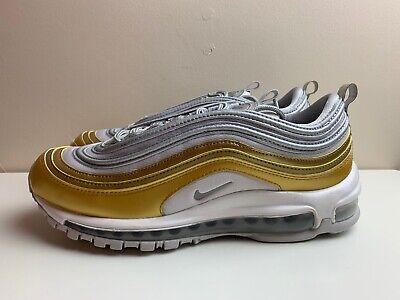 Detalles de Nike Air Max 97 se Zapatillas Para Mujer Plata Oro Reino Unido 6.5 EUR 40.5 AQ4137 001 ver título original