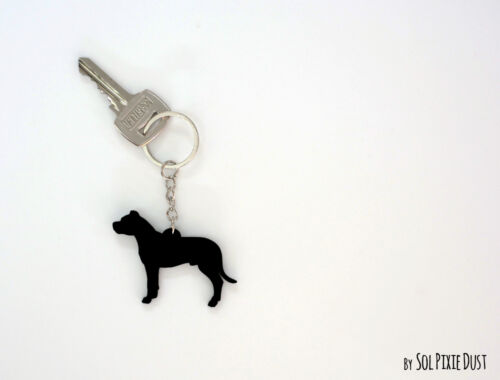 Details about  /Dogo Argentino Keychain Silhouette