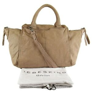62e7fe95c2 Image is loading LIEBESKIND-BERLIN-Dragon-Rust-Beige-Leather-Satchel-Bag-