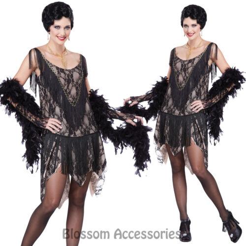 CL30 Gatsby Gal 1920s Flapper Charleston Chicago Women Adult Fancy Dress Costume