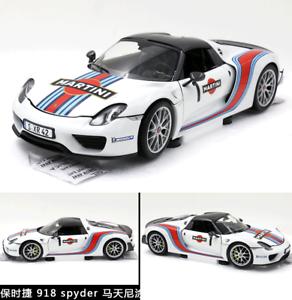 ventas en linea Minichamps Porsche Porsche Porsche 918 Spyder 2013 Martini  1 1 18 Diecast Modelo  bienvenido a elegir