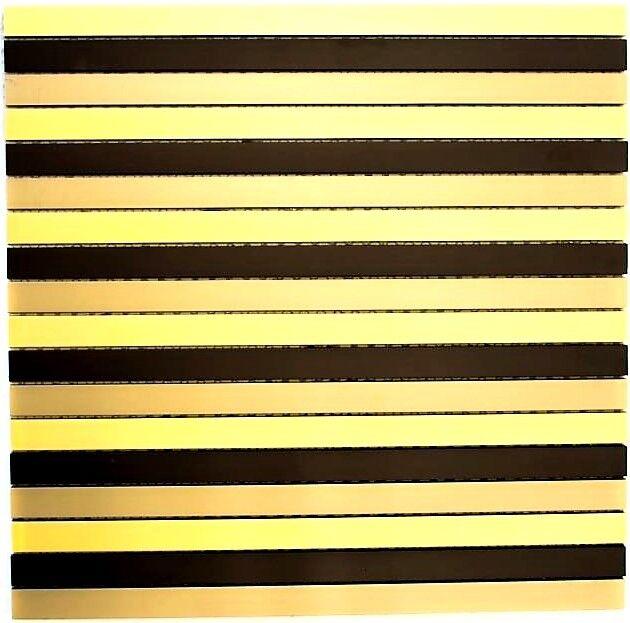 Mosaik Fliese Aluminium Stäbchen Alu schwarz bronze Gold  49-B301_f  10Matten