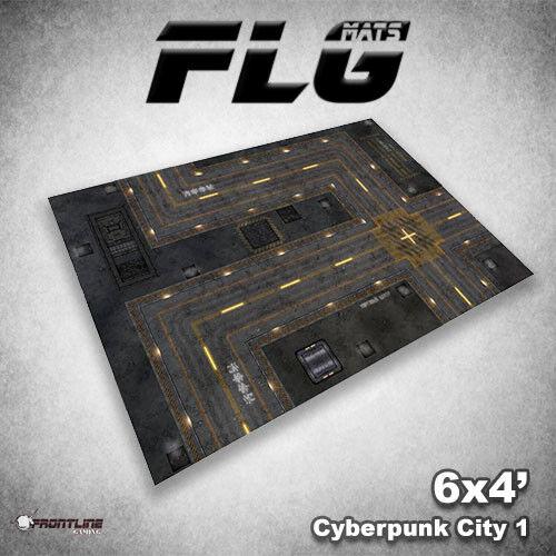 FLG Mats  Cyberpunk City 6x4' High Quality Neoprene Tabletop Gaming Mat