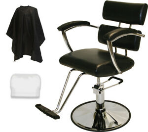 Barber Chair Padded Arms Professional Hydraulic Styling Beauty Salon Equipment Ebay