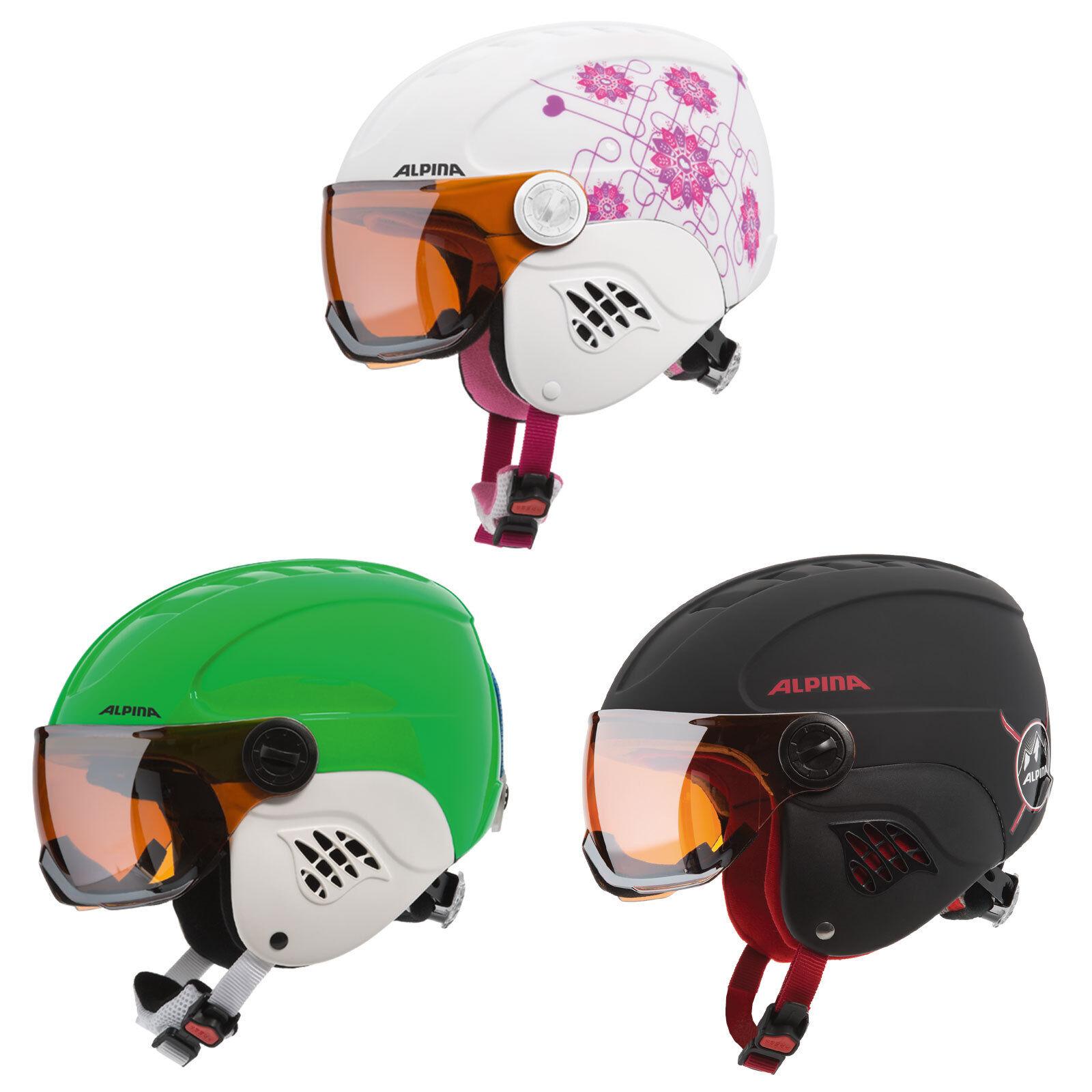 Alpina Carat Visor Kinder-Snowboardhelm  Skihelm Snowboard Ski Helm mit Visier