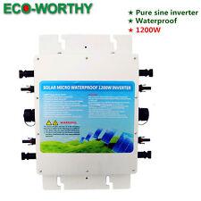 Grid Tie Pure Sine Wave1.2KW Waterproof Inverter 24VDC-220VAC for Home Using