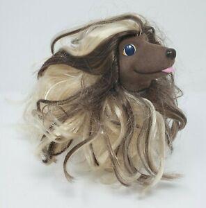 VINTAGE-1989-LARGE-HASBRO-SWEETIE-PUPS-AFGHAN-FLOCKED-PUPPY-DOG-BRUSHABLE-HAIR