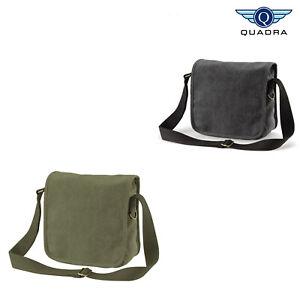 Quadra-Unisex-Canvas-Compact-Reporter-Bag-qd662-Cross-Body-Messenger-Handtasche