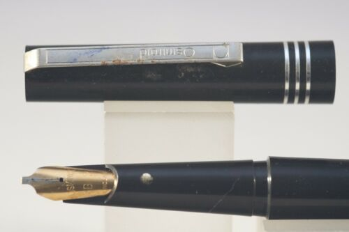 Osmiroid Easy Change Black B2 Fountain Pen with Chrome Trim