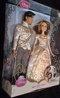 Disney Store Tangled Rapunzel Short Brown Hair And Flynn Rider Wedding Doll Set Ebay
