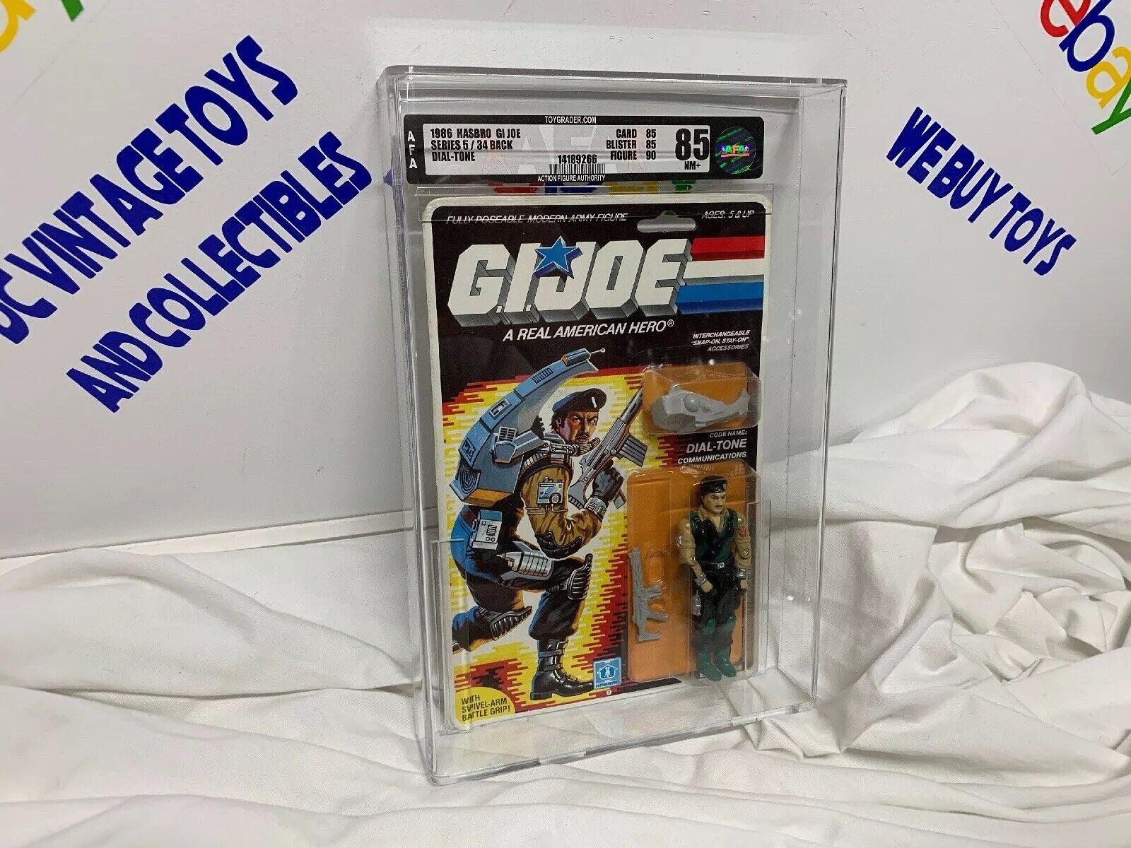 1986 Hasbro GI Joe Series 5 Dial-Tone 36 Back AFA 85 C85 B85 F90  MOC