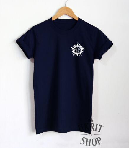Anti-Traitement T-shirt Supernatural Shirt unisexe Winchesters Tattoo Tee Top