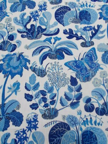 Schumacher Fabric /'EXOTIC BUTTERFLY MARINE/' 3 METRES Order for evhaynes