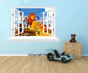 Image Is Loading Lion King Window Wall View Stickers Kids