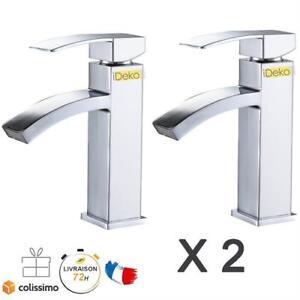 Détails sur 2 x Robinets Lavabo Mitigeur Salle de bain Cuisine Évier Vasque  Laiton&Flexibles