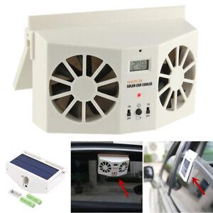 Solar Powered Auto Car Window Air Vent Ventilator Mini Air Conditioner Cool Fan,