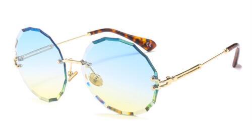 Luxury Sunglasses Rimless Round Sun Shades Woman Glasses UV400
