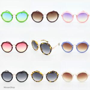 Mujer-Audaz-Marco-Moderno-Grande-Redondo-Lente-Negro-Gafas-de-sol-moda