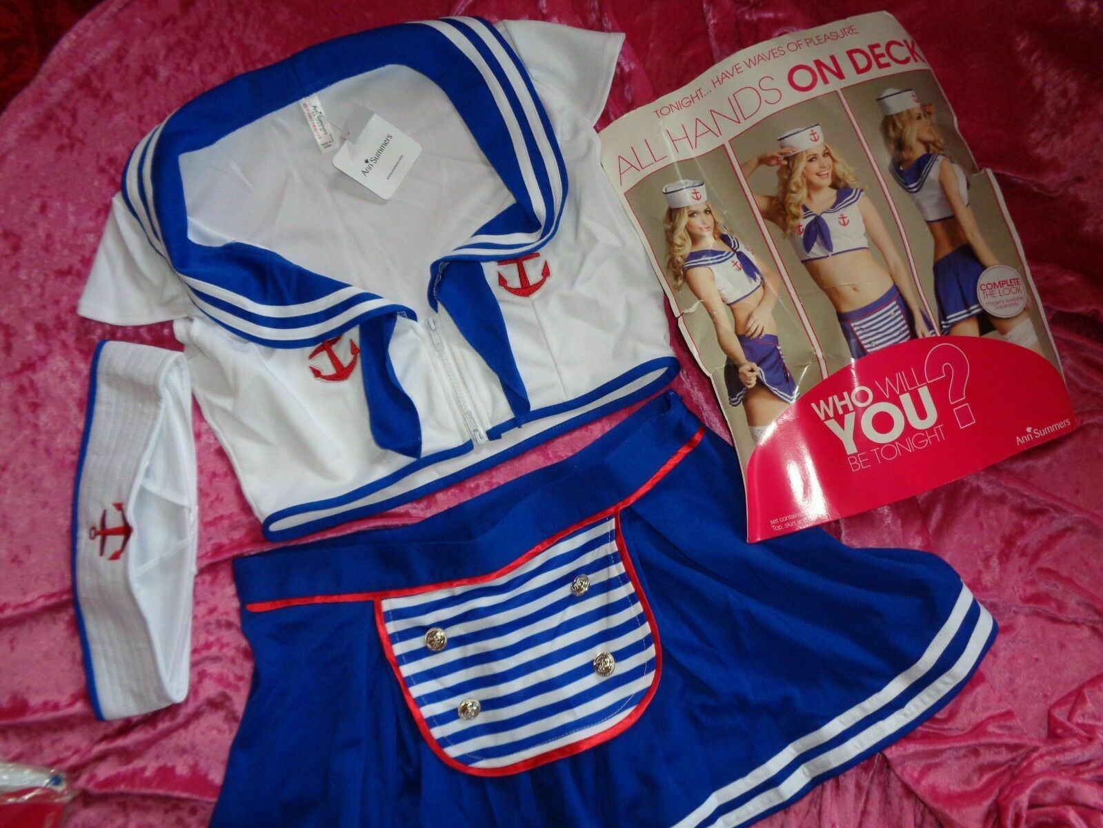 ANN SUMMERS ALL HANDS ON DECK FANCY DRESS SAILOR OUTFIT SIZE 10 NWT