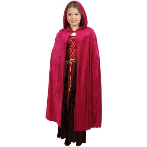 Child/'s Crushed Panne Hooded Cape Costume
