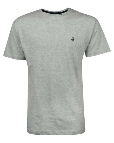 CREW NECK SHORT SLEEVE TOP DESIGNER T SHIRT HORSE PONY NEW MENS POLO