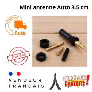 Mini antenne auto radio voiture carbone universel 3.5cm carbone facile courte