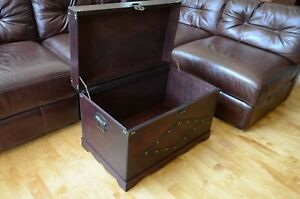 Image Is Loading Storage Trunk Coffee Table Steamer Antique Look Old
