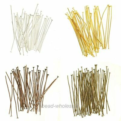 100Pcs Head/Eye/Ball Pins Finding Any Size Choose For Jewelry DIY 4 Color