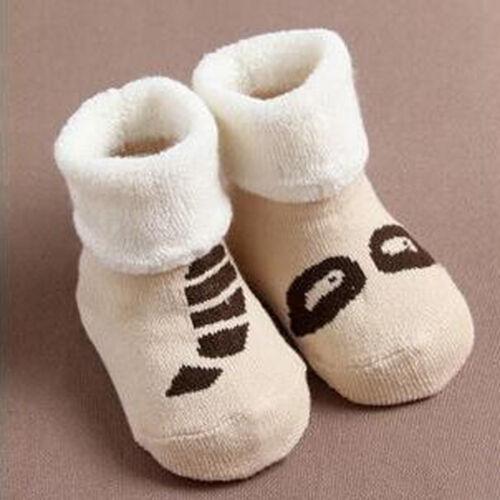 Kids Child Toddler Baby Boys Girls Cartoon Animals Anti-Slip Knitted Warm Sock C
