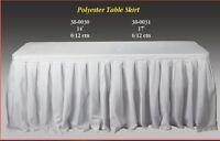 Polyester Cloth Table Skirt Drape Wedding Banquet Tradeshows Booths Presentation