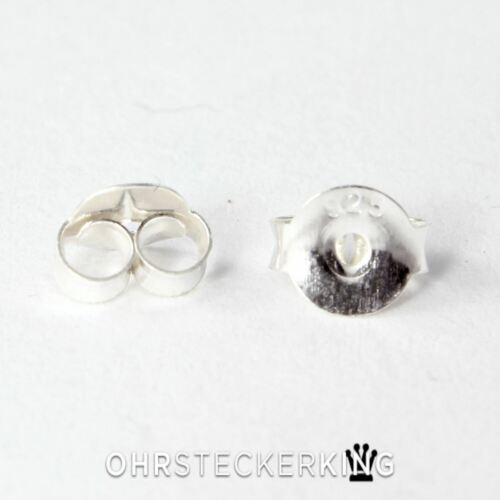 10//20 pezzo ☆ NUOVO ☆ Orecchini a bottone chiusure 925-argento in puro argento