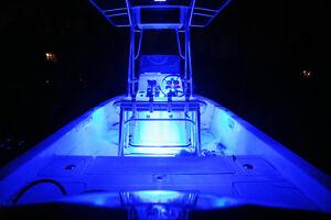 blue 4pc led kit for boat marine deck interior lighting ebay. Black Bedroom Furniture Sets. Home Design Ideas