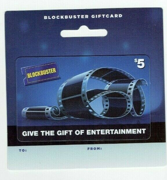 Blockbuster Gift Card - Movie Rentals / Film with backing - No Value