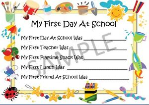Image Is Loading My First Day At School Gift Memories Keepsake