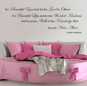 Image Is Loading AUDREY HEPBURN WALL STICKERS QUOTES BEAUTIFUL EYE DECALS  Part 45