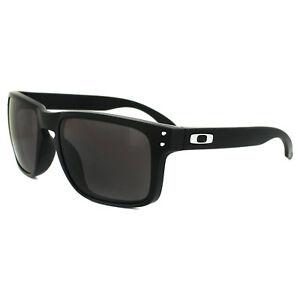 aad6bf4dac Image is loading Oakley-Sunglasses-Holbrook-Matt-Black-Warm-Grey-OO9102-