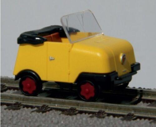TT Gleiskraftrad GKR Typ 1 Schienentrabi Bausatz gelb blau Kres NEU hellgelb