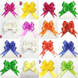 10-50-LARGE-Bow-Pull-Multifunzione-Fiore-per-Nozze-auto-regalo-Wrap-Partito-Decorazione