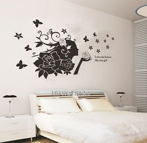 ROSE-GIRL-WALL-DECAL-WILL-BRING-A-FEMININE-amp-GLAMOUR-TOUCH-TO-YOUR-DECOR