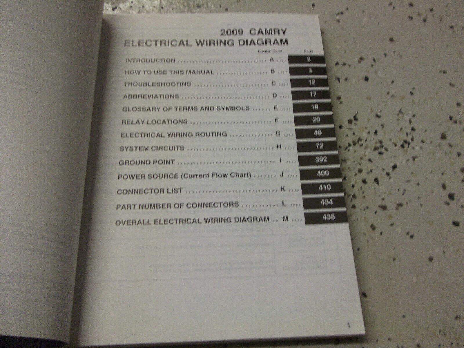 2009 Toyota Camry Electrical Wiring Diagram Troubleshooting Ewd Shop Manual 09 Ebay