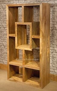 Image Is Loading Mantis Cube Bookcase Solid Light Mango Wood Room