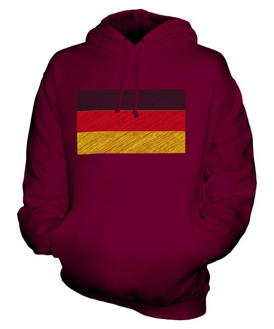 7802f07a90 GERMANY FLAG UNISEX HOODIE TOP GIFT DEUTSCHLAND GERMAN SCRIBBLE ...