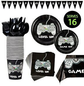 Video Game Party Supplies Kit Happy Birthday Fortnite Roblox Serves 16 Ebay