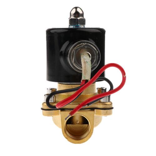 """C für Wasser Luft Gas Diesel 2 Messing 12V DC 1//2 /""""Elektromagnetventil N"""