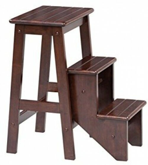 Pleasing Boraam 36824 Folding Step Stool 24 Inch Cappuccino Preowned Beatyapartments Chair Design Images Beatyapartmentscom
